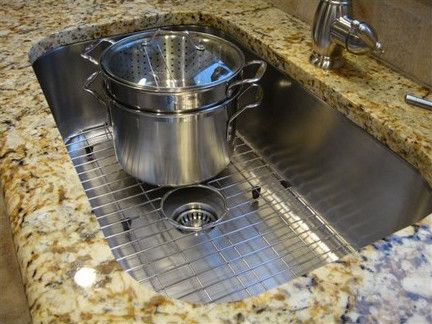 Exceptional Large Single Bowl Sink With Solid Stainless Steel Sink Grids