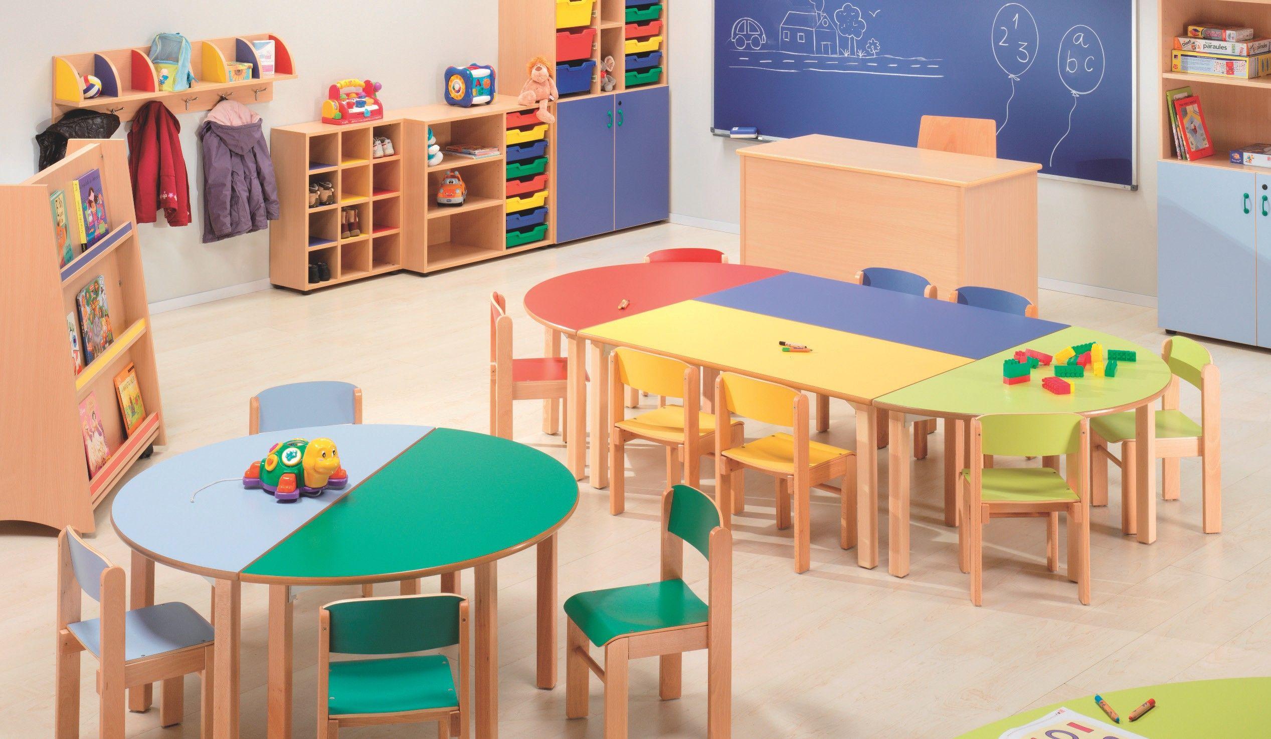 Resultado de imagen para mesa comedor guarderia medidas for Mesas comedor escolar