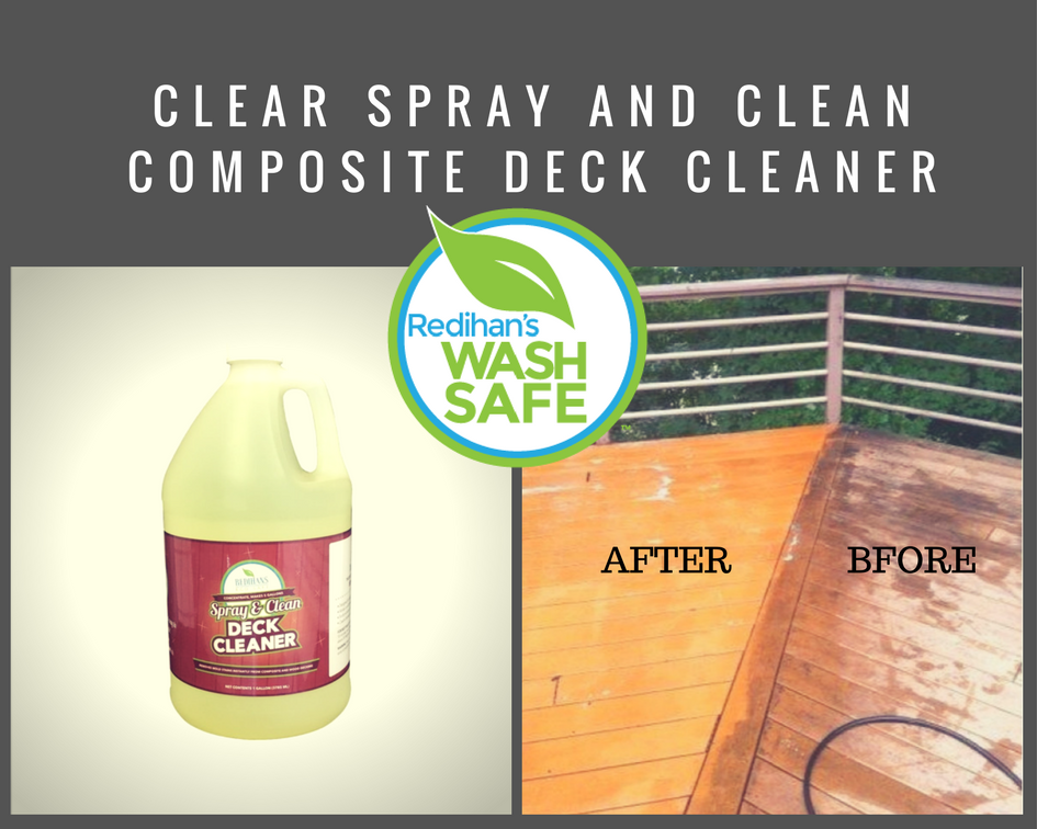 Wash Safe Industries Ws Sc 1g Clear Spray And Clean Composite Deck