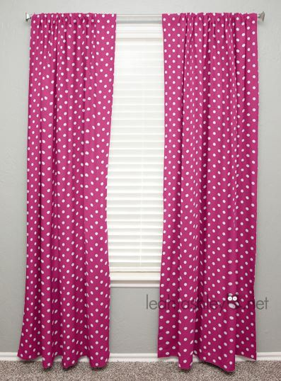 Charmant Curtain Panel Hot Pink White Polka Dot By Leahashleyokc On Etsy, $45.00