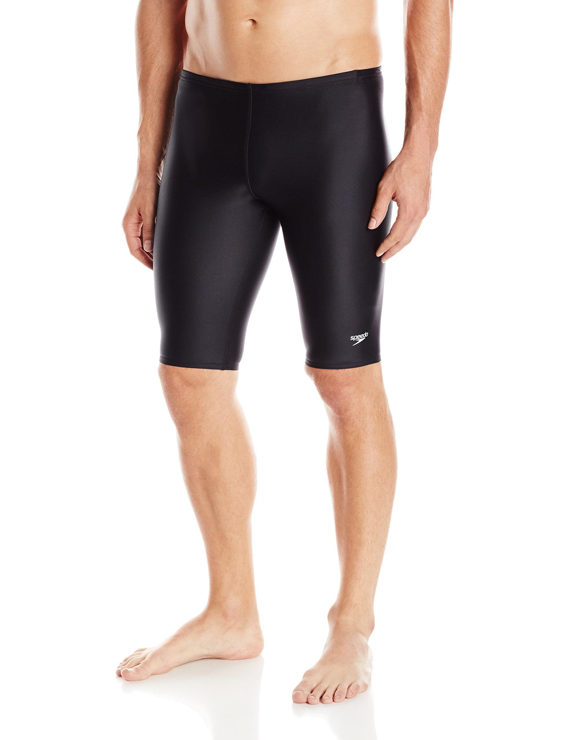 c548f808bdbe6 Speedo Men s PowerFLEX Eco Solid Jammer Swimsuit