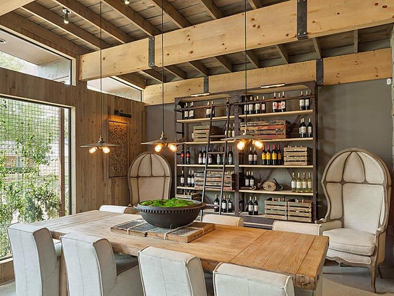 Eclectic Houston home MCM steampunk / Brutalist / rustic / modern