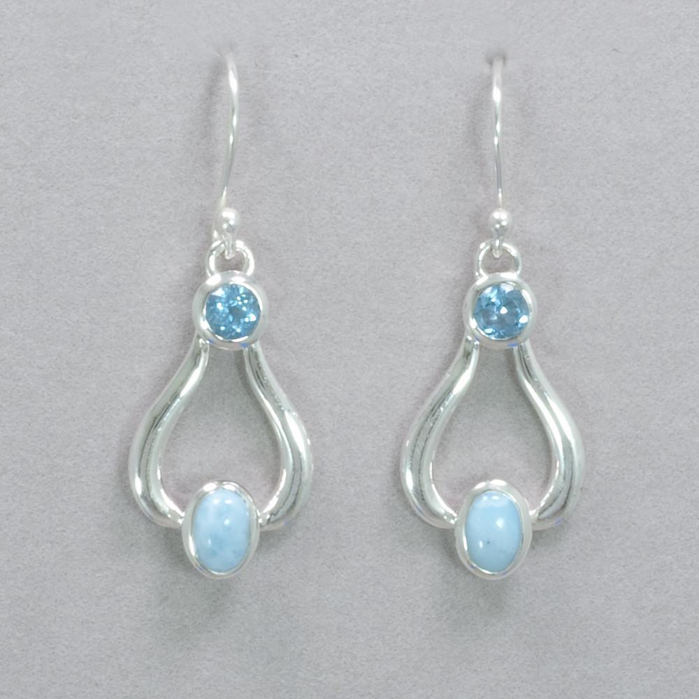 eaac36967 Larimar and Blue Topaz Earrings in 2019 | inšpirácia