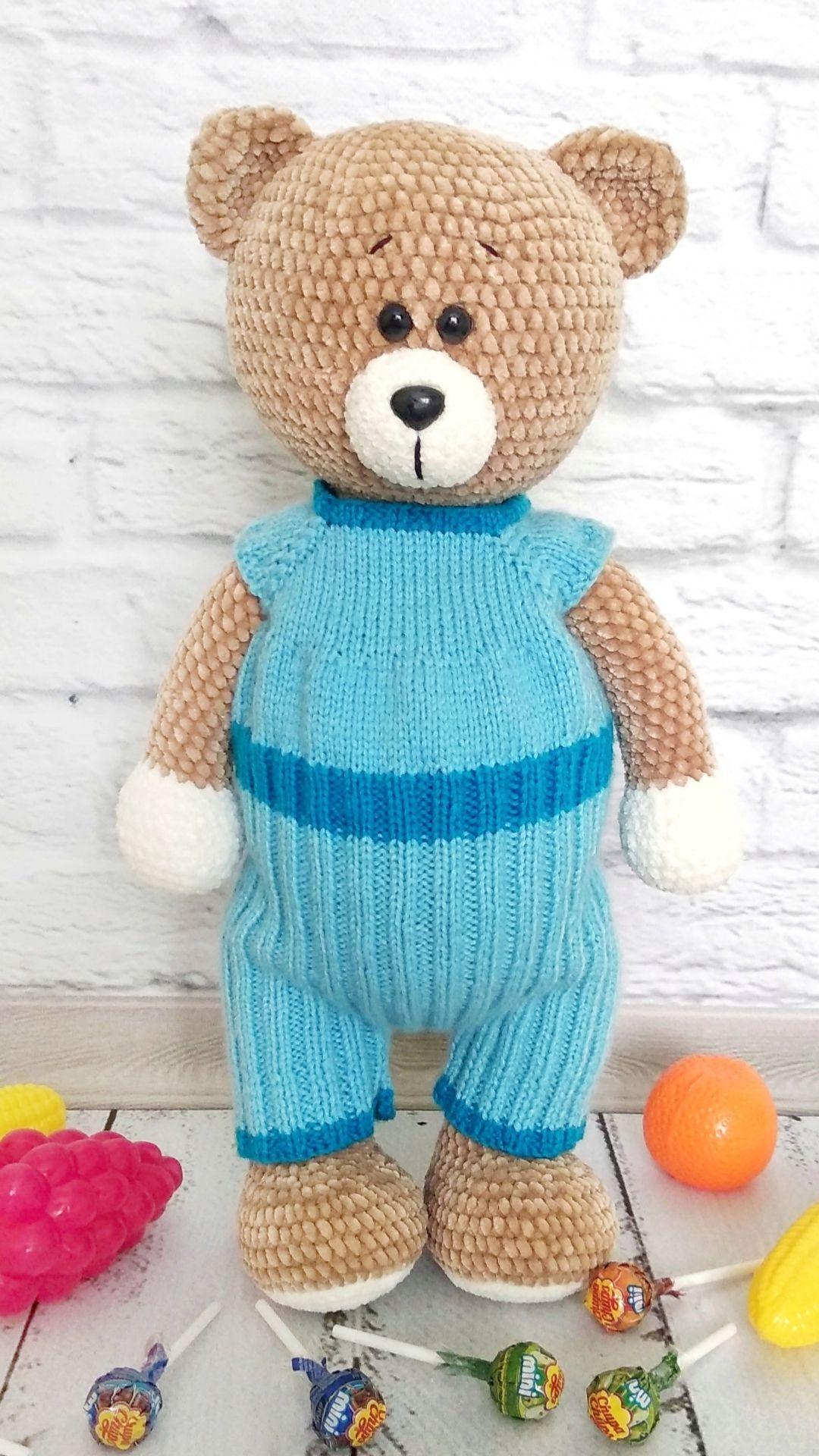 Crochet toy Teddy Bear Toy Crochet Teddy Bear Amigurumi animals Amigurumi Bear Amigurumi Knitted toy Ready to ship