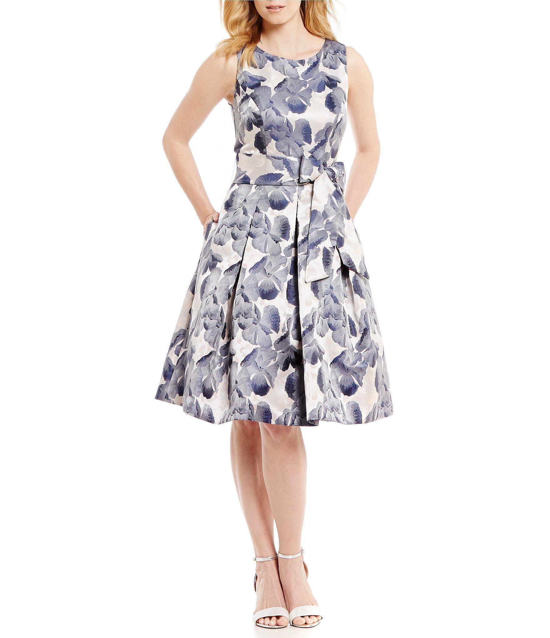 Wedding dresses dillards  Jessica Howard Belted FloralPrint Party Dress  Dillards Clothing