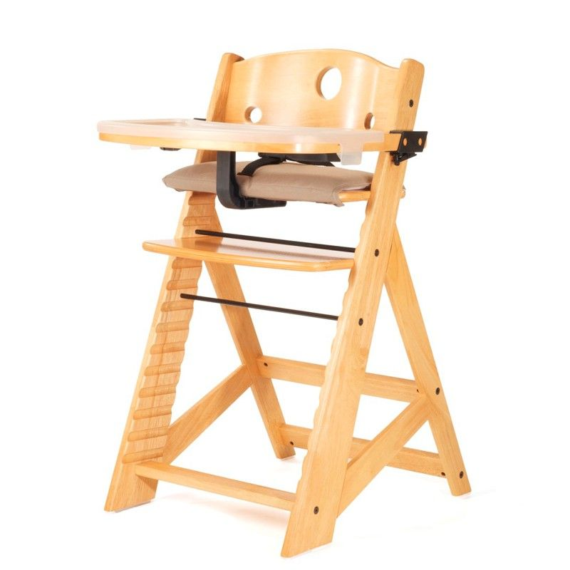 Keekaroo Height Right Highchair With Tray And Pad Natural Wood High Chairs Baby High Chair Wooden High Chairs