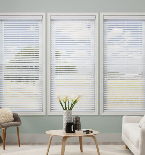 Simply Chic 2 1 2 Faux Wood Blinds Living Room Blinds Faux