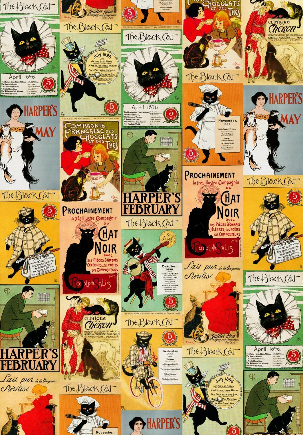 IFI Vintage Cats Wrapping Paper Amazon.co.uk Office