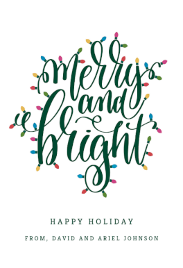 Merry Bright Christmas Card Free Greetings Island Calligraphy Holiday Cards Joy Christmas Card Christmas Cards Free