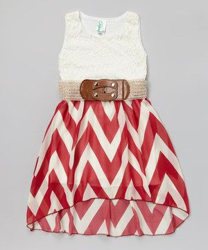 Loving This Burgundy Lace Zigzag Belted Hi Low Dress On