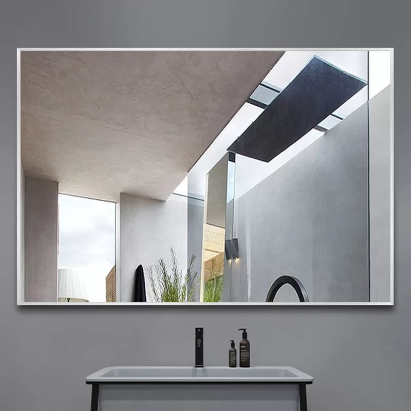 Eline Rectangular Thin Modern And Contemporary Bathroom Mirror In 2020 Contemporary Bathroom Mirrors Contemporary Bathroom Bathroom Mirror
