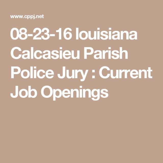 08-23-16 louisiana Calcasieu Parish Police Jury : Current