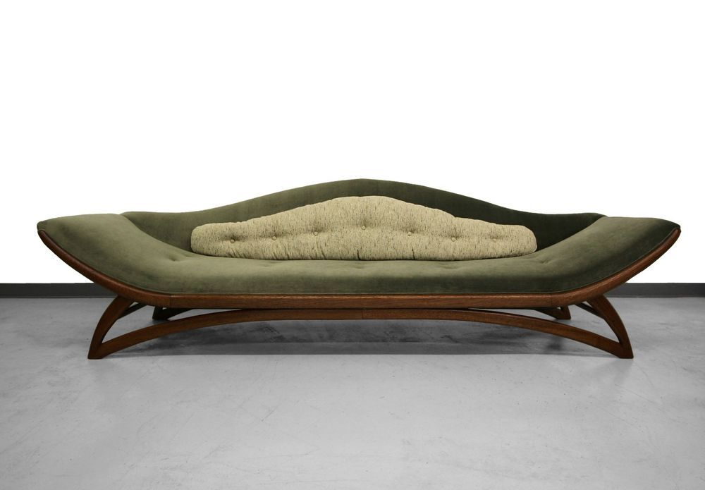 9ft Mid Century Gondola Sofa By Carsons Furniture Adrian