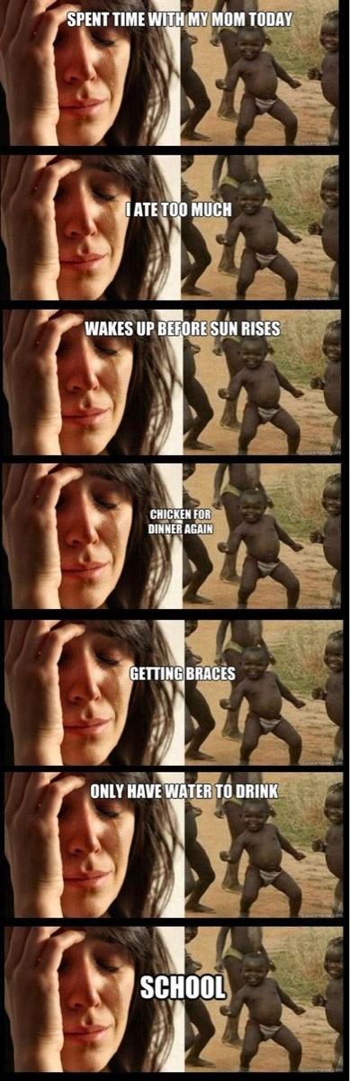 First World Problems vs. Third World Success   First world ...