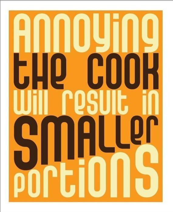 Kitchen Print Art Wall Decor, Funny Quote Wall Hanging, Vintage ...
