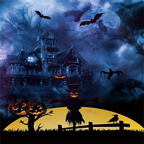 Aaloolaa Photography Backdrop 5x5ft Vinyl Photo Backgroun   - halloween backdrop