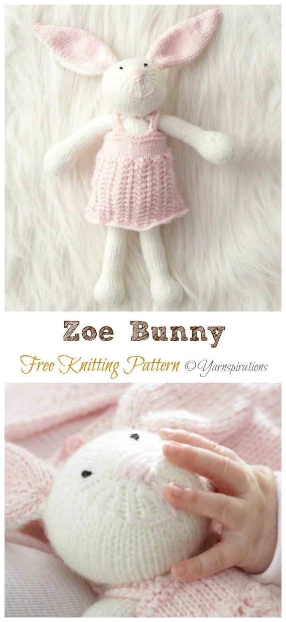 Photo of Amigurumi Knit Bunny Toy Softies Free Patterns&Paid