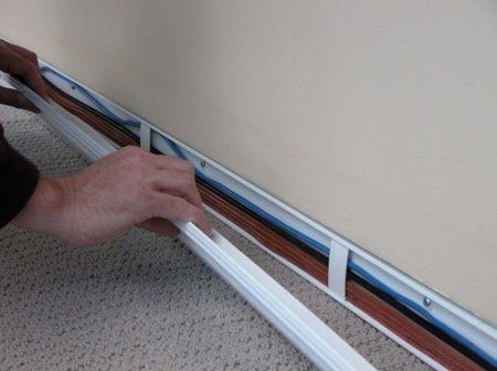 WireTracks: baseboards or crown molding to hide wires ... on