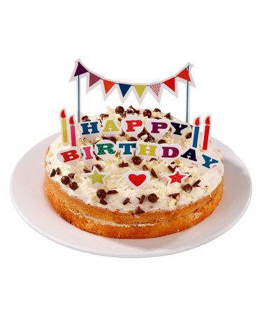 Look at this #zulilyfind! Birthday Bash Cake Topper Set #zulilyfinds