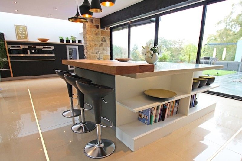 Contemporary Kitchen Extension Island Breakfast Bar And Seating Discover More At Www Lwk Home