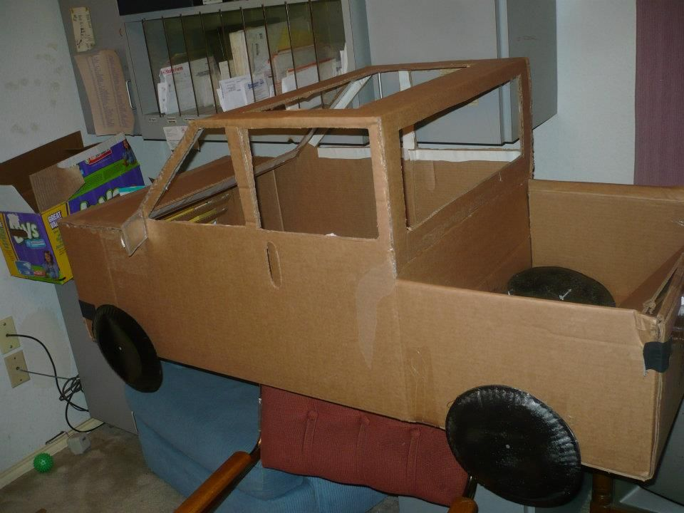 My daughter wanted to be a truck for halloween so we used for 4 box auto in tandem