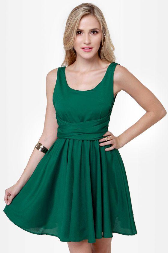 Cute Green Dress - Sleeveless Dress - Skater Dress -  51.00 4843461d0