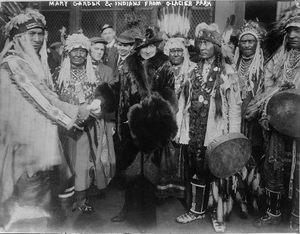 Mary Garden & Blackfoot members