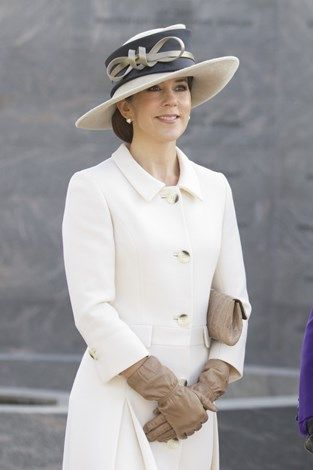 Mary was super sophisticated in this cream dream when she played host to Prince Charles and the Duchess Of Cornwall on their visit Denmark in March 2012.