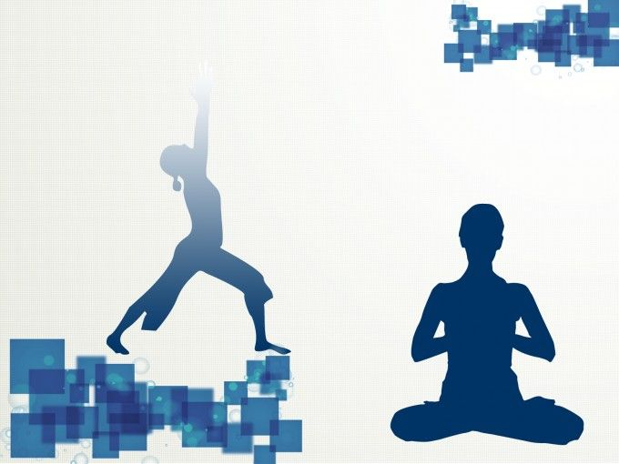 Yoga Sport Template Backgrounds Sport Silhouette Powerpoint