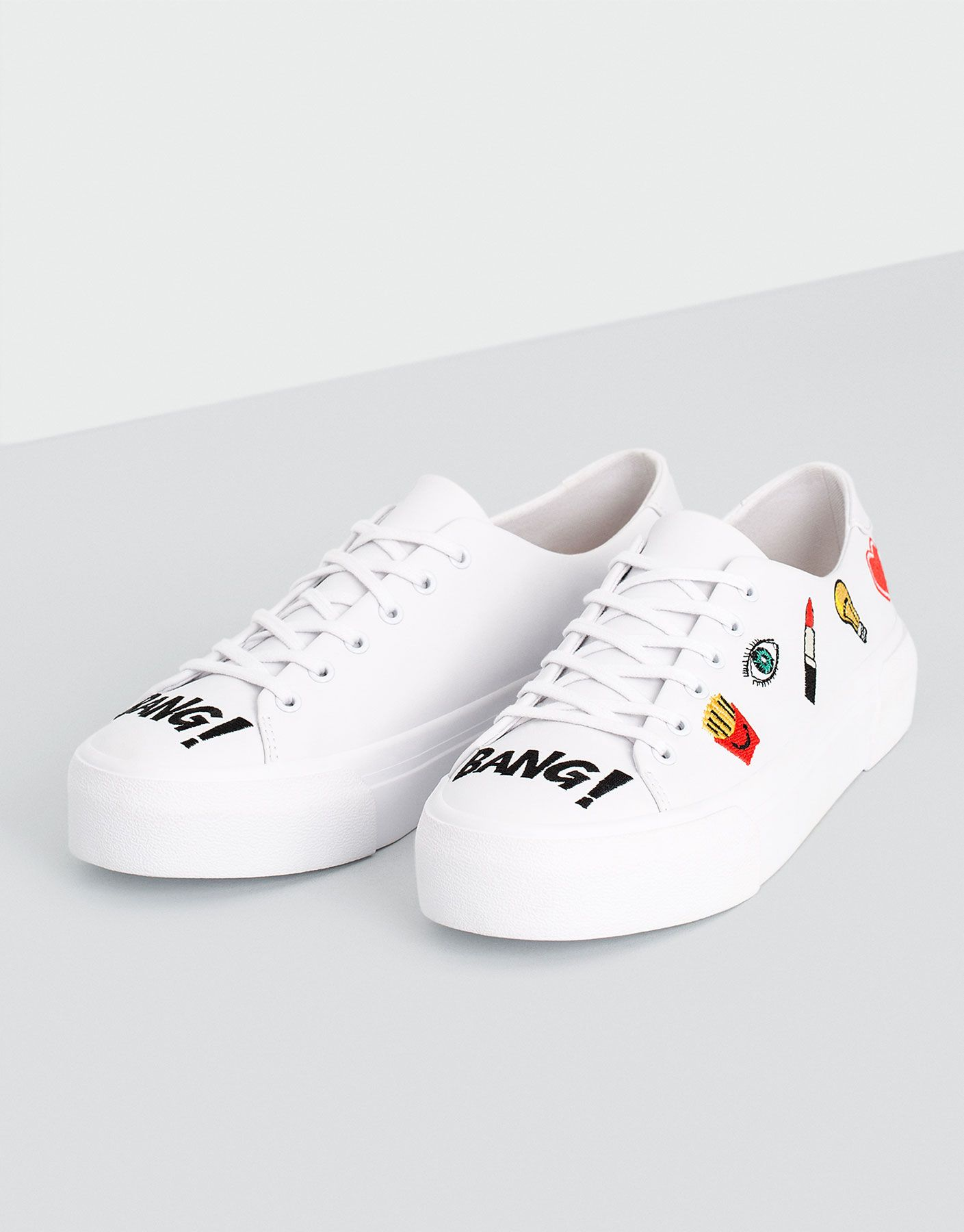 promo code 71ced 88287 WHITE PATCHES PLIMSOLLS - WOMEN S SHOES - WOMAN - PULL BEAR China