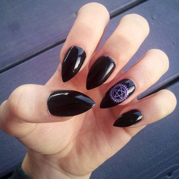 Black Butler Nail Art: Black Butler Contract/Supernatural Fake Hand Painted Nails