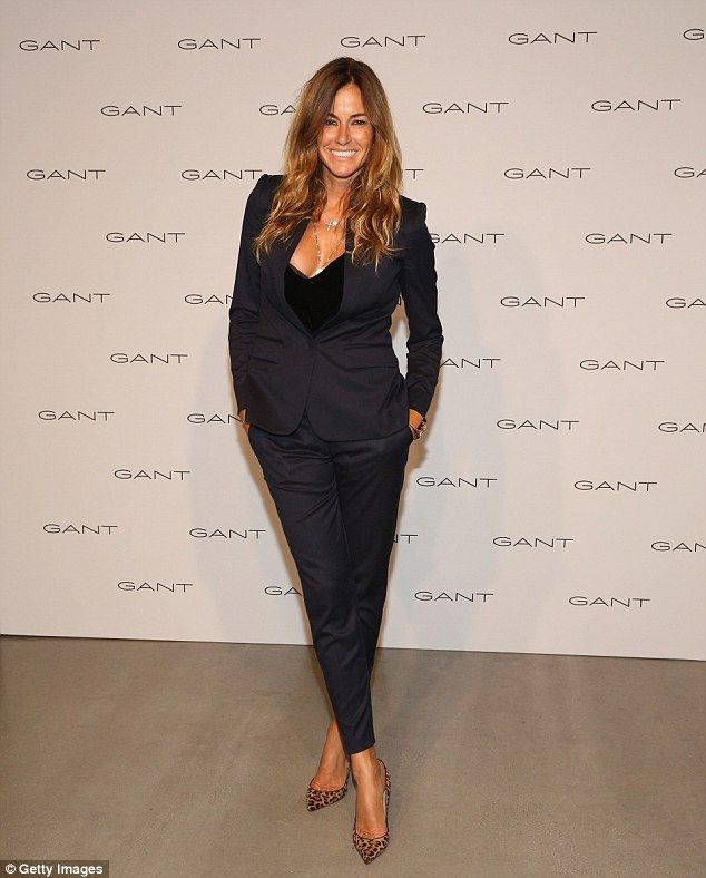 Back to black: Real Housewife of New York star Kelly Bensimon was also in attendance...