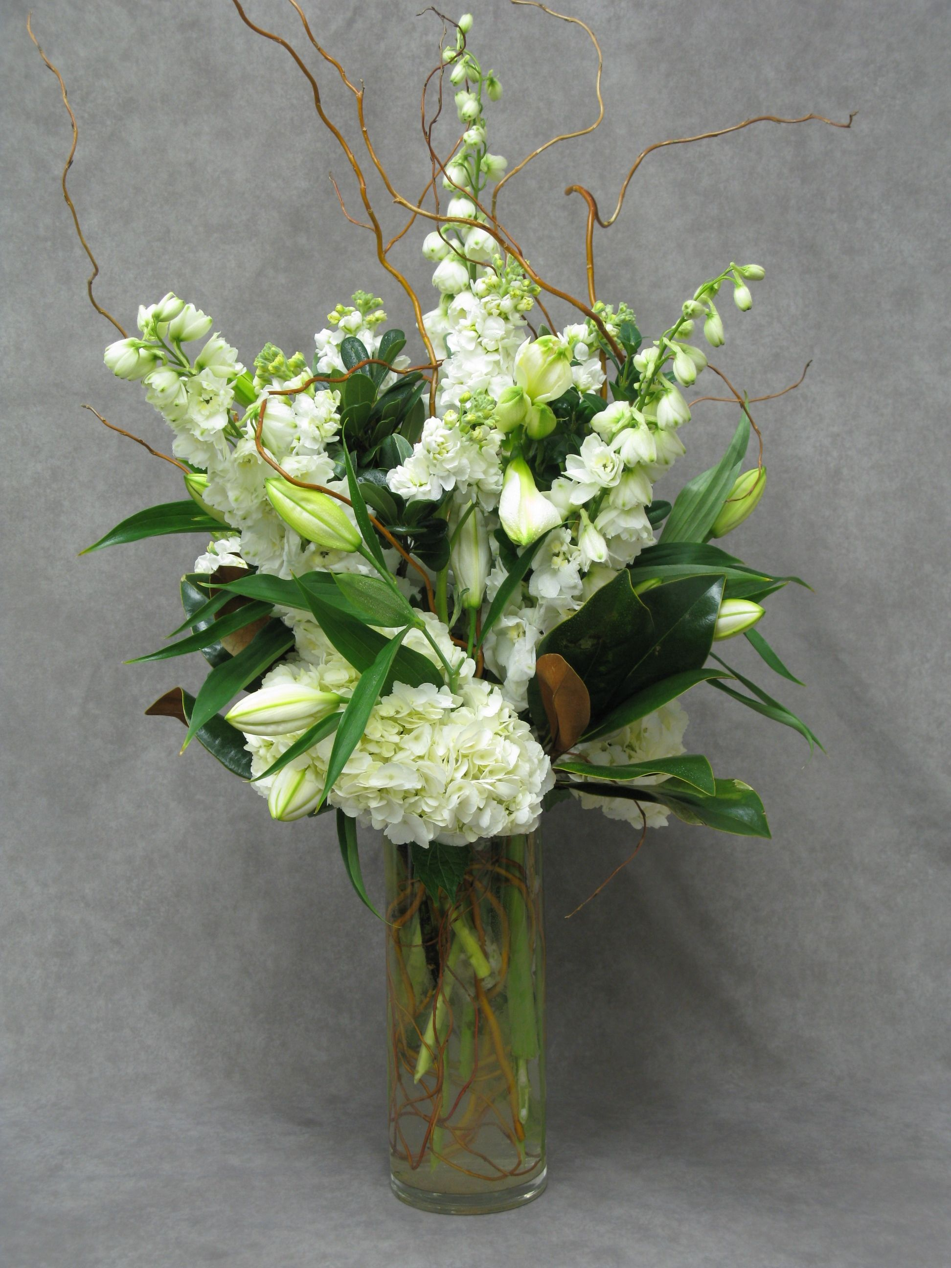 Tall White And Green Arrangements Are Calming