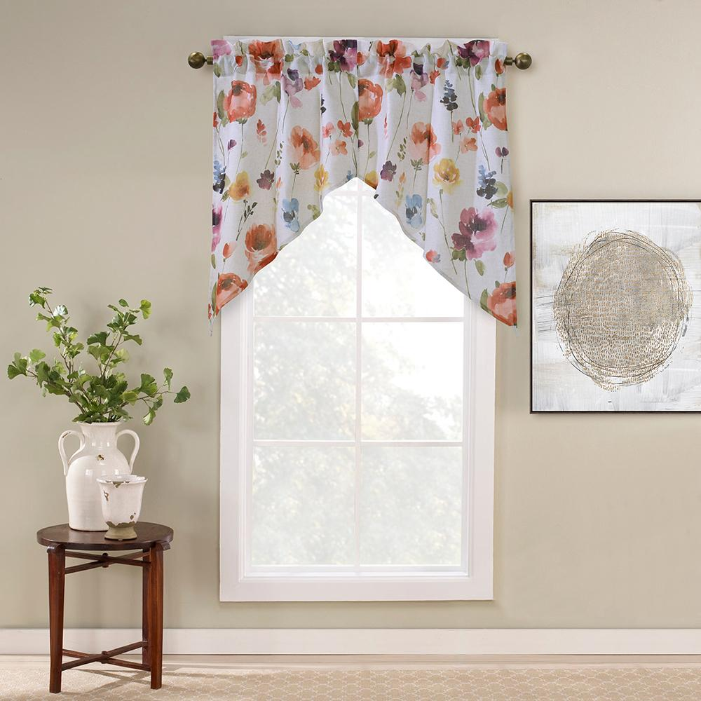 Alexa Pole Top Panel Valance Living Room Seating Valance Curtains
