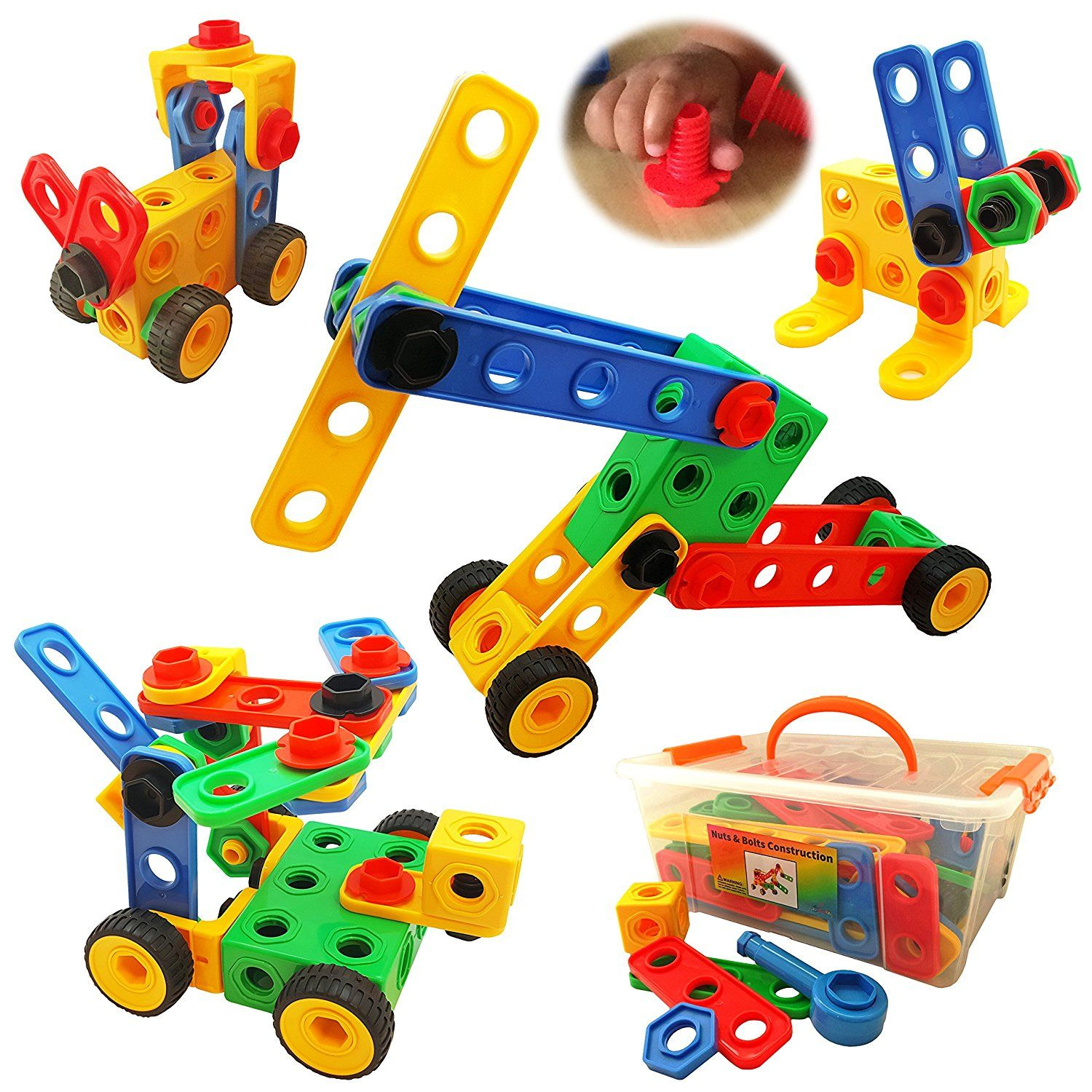 Nuts and Bolts Building Toy for Toddlers to Pre ...
