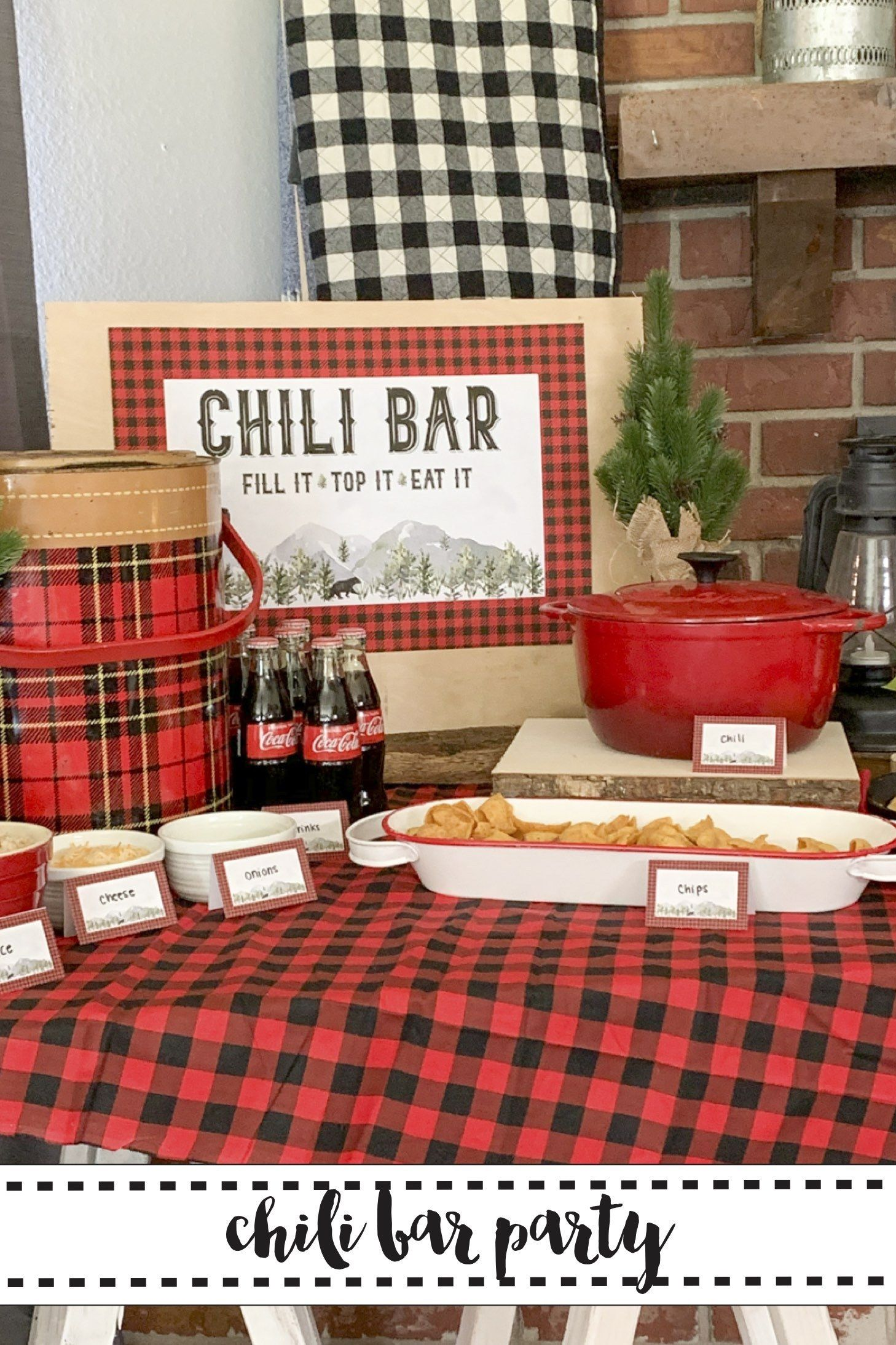 Rustic Woodland Chili Bar Party Host and adorable and delicious Chili Bar Party with help from Everyday Party Magazine