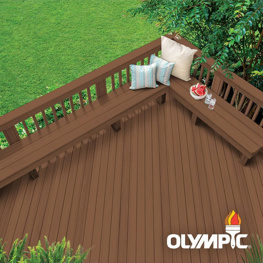 Olympic elite 1 gal canyon sunset solid advanced exterior
