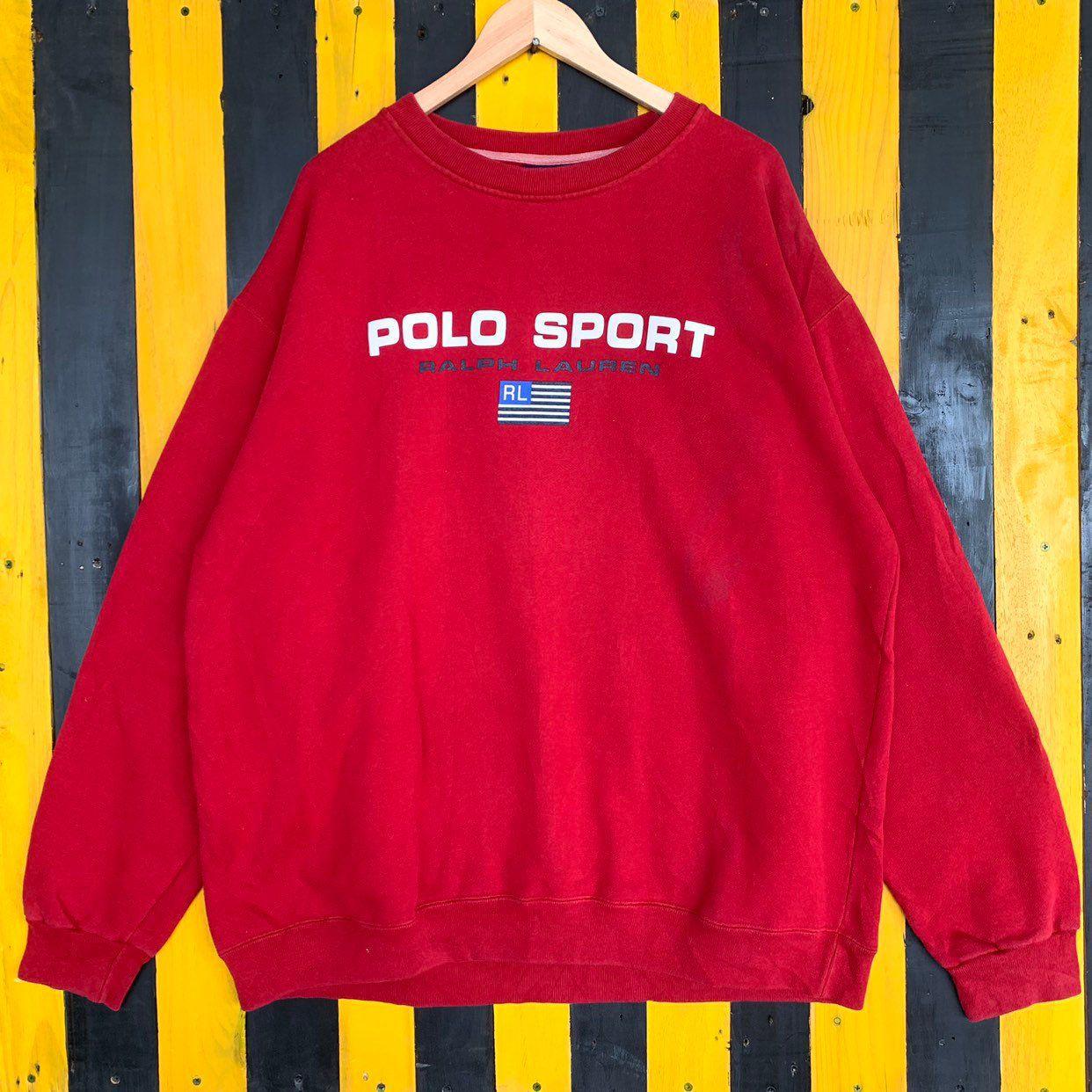 Vintage 90s Polo Sport Ralph Lauren Big Logo Sweatshirt