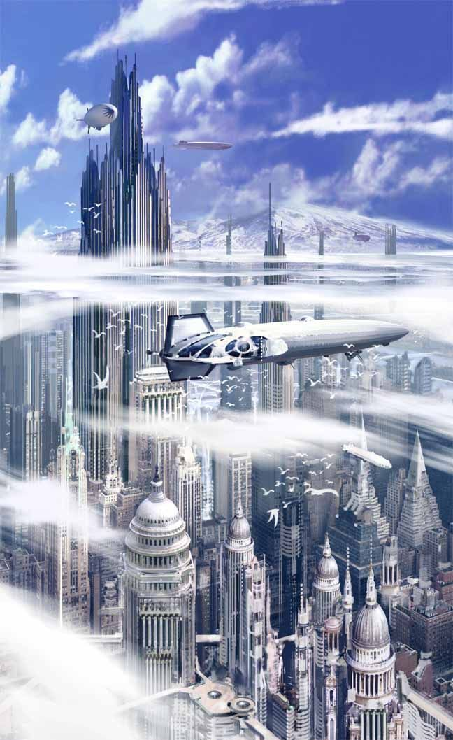 Stephan Martiniere Baradwys Gan Y Mor The Capital City Of Mae R Tir Duw Science Fiction Art Pinterest Future C Futuristic City Sci Fi City Fantasy City