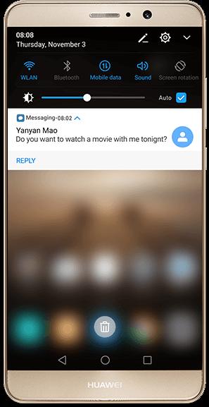 HUAWEI Mate 9 | EMUI 5 0 | Lock screen / Home screen / with