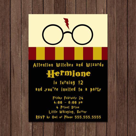 Harry Potter Anniversaire Invitation Gryffondor Fichier Bday Free