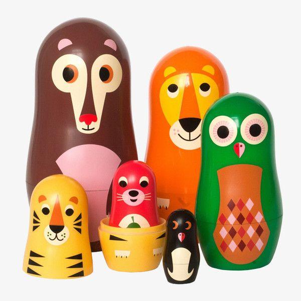 Matryoshka nesting dolls van OMM Design / Animals 1