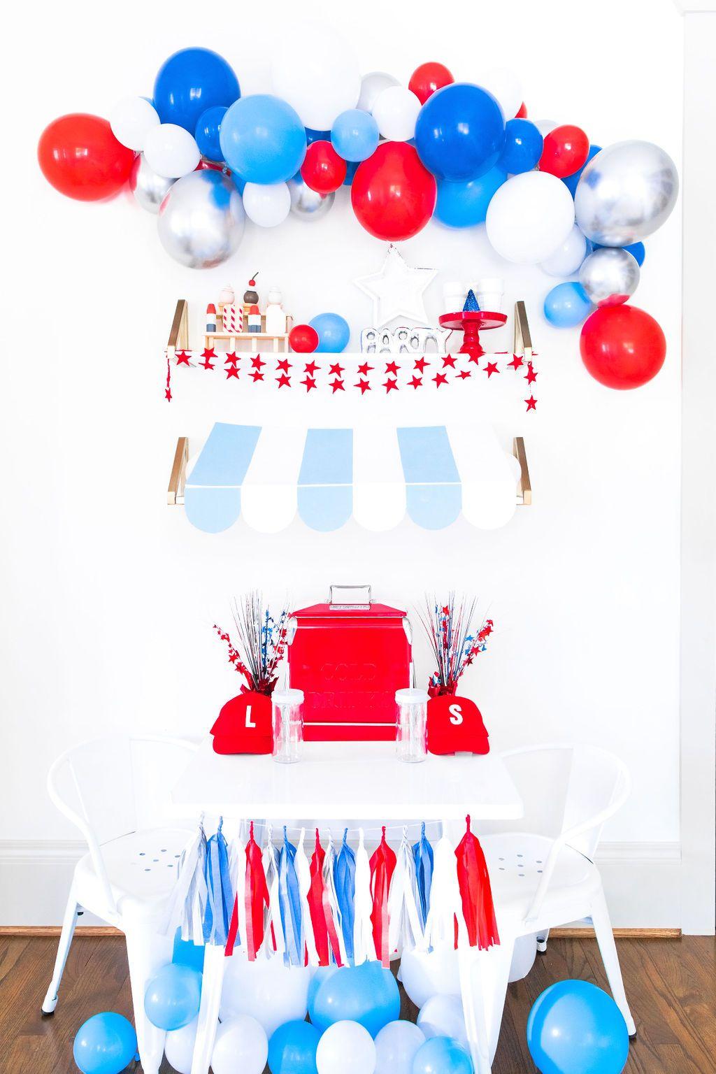 DIY Red, White, & Blue Balloon Garland Kit Balloon