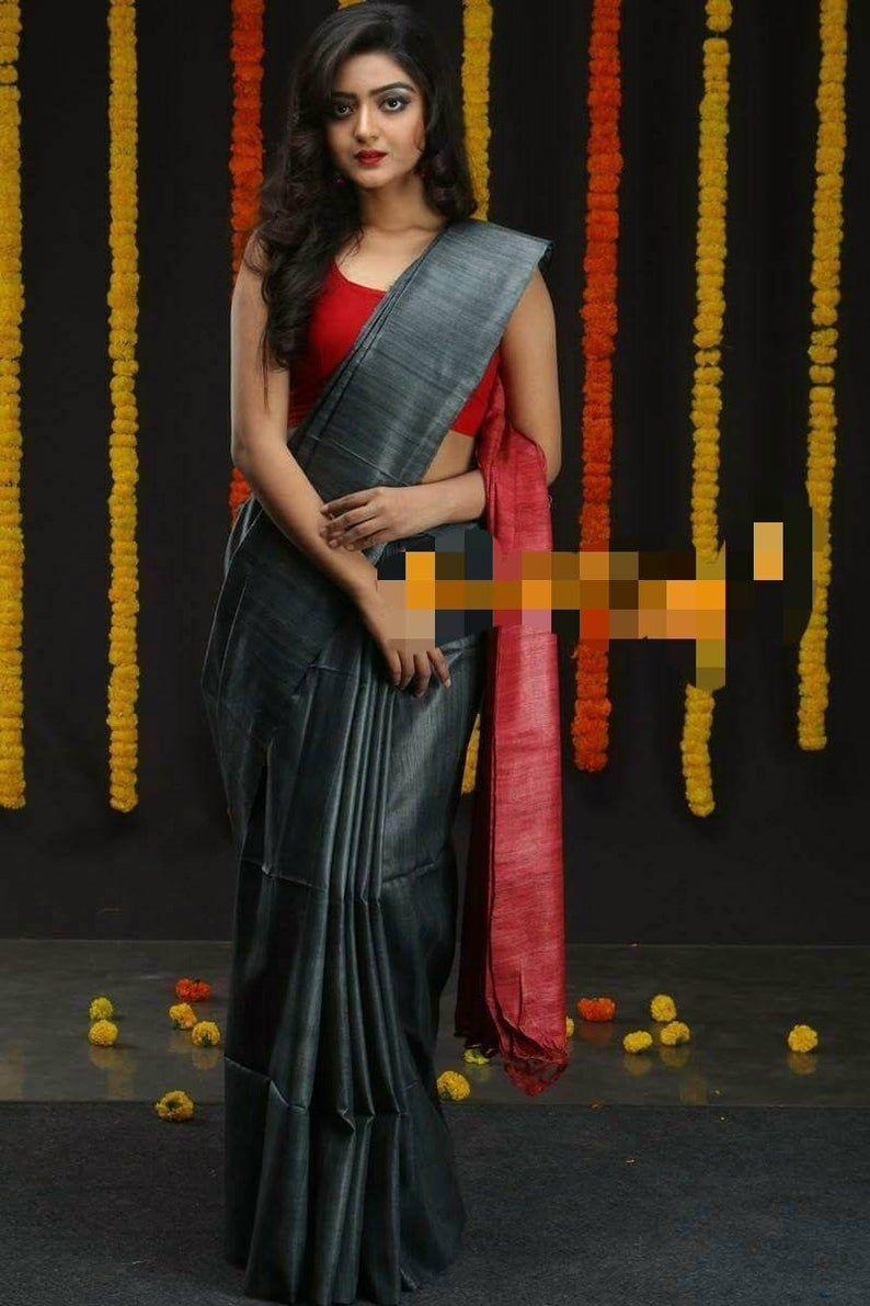 Ghicha tussar silk saree handloom sari