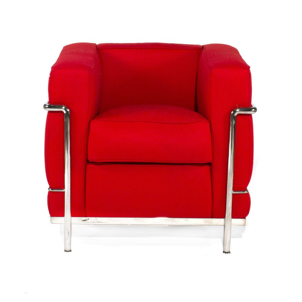 Authentic Cassina LC2 Chair By Le Corbusier Italian Modern Armchair Lounge