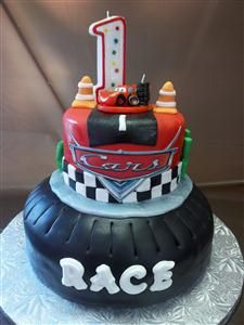 Cars 1st Birthday Cake 1st Birthday Cakes Pinterest Birthday