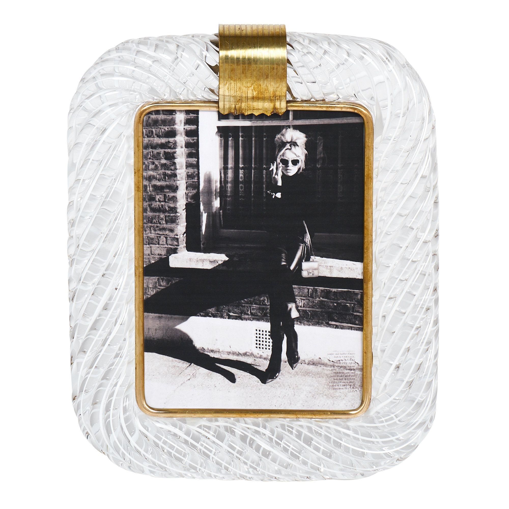 Vintage Murano Glass Photo Frame Attributed to Venini | Glass photo ...