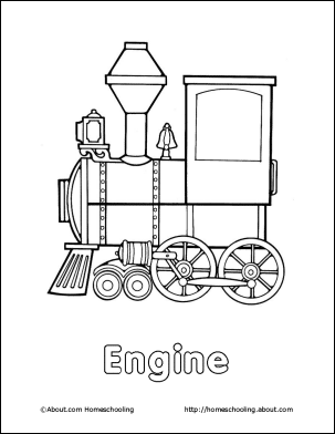 Train Pictures To Print And Color