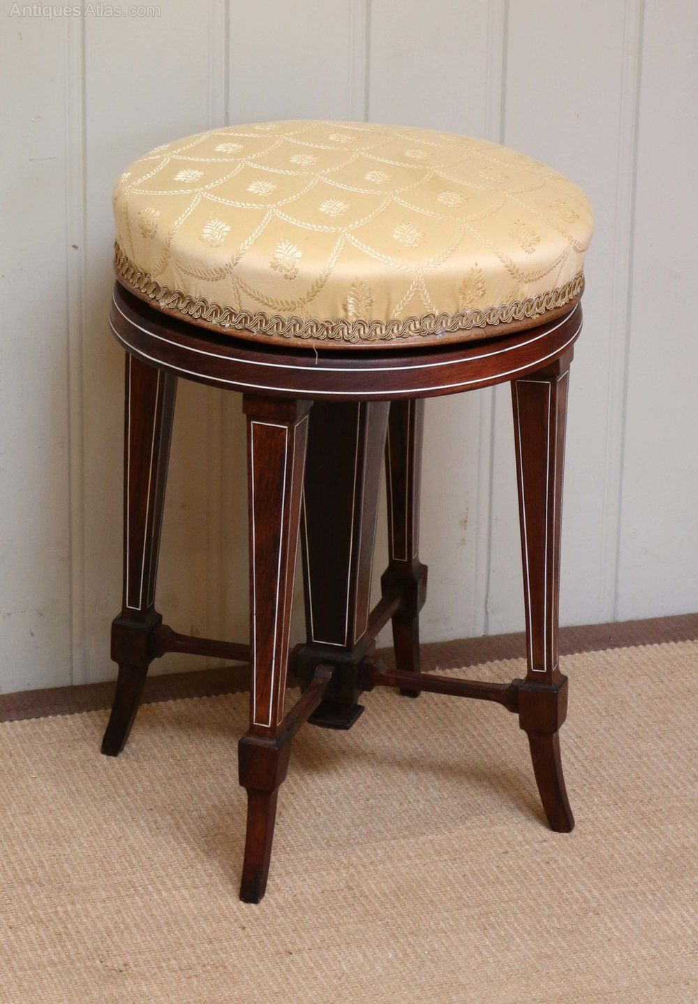 Awe Inspiring Late Victorian Rosewood Adjustable Piano Stool Antiques Machost Co Dining Chair Design Ideas Machostcouk