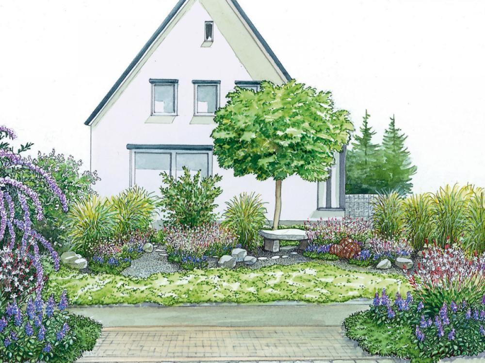 vorgartengestaltung 40 ideen zum nachmachen garten terasse pinterest obwohl pflanzen und. Black Bedroom Furniture Sets. Home Design Ideas